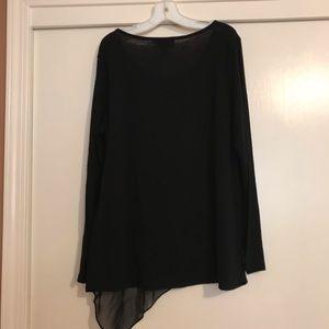 Long sleeve black top